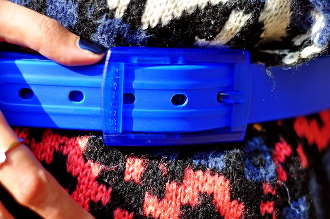 Futurist Blue - { #TieUpsStyle } | www.akanksharedhu.com | Belt Closeup