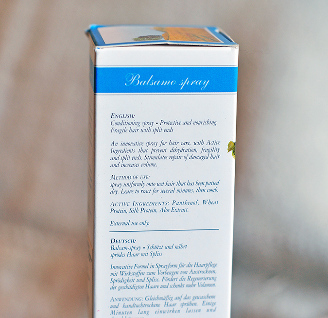 Bottega di Lungavita | Beauty Review | www.akanksharedhu.com | Balsamo Spray Directions