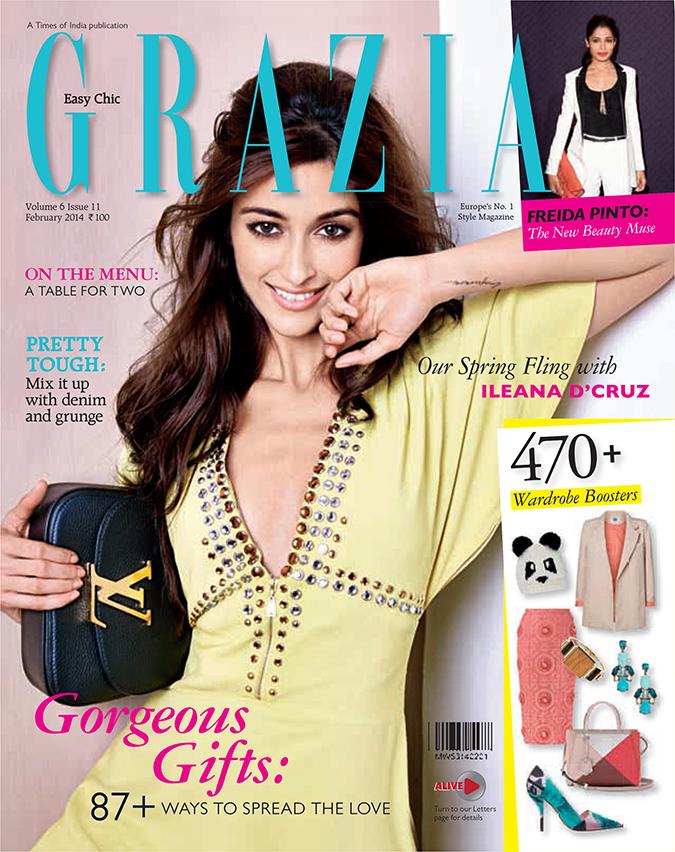 Grazia Magazine { February 2014 } | www.akanksharedhu.com | Cover