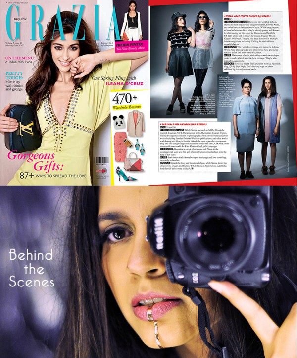 Grazia Magazine { February 2014 } | www.akanksharedhu.com | Media Feature