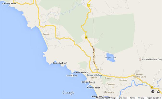 Agonda Beach   Goa   www.akanksharedhu.com   map