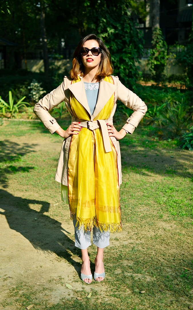 Indo-Western Style | Kokum | Akanksha Redhu | full front belted hands on waist