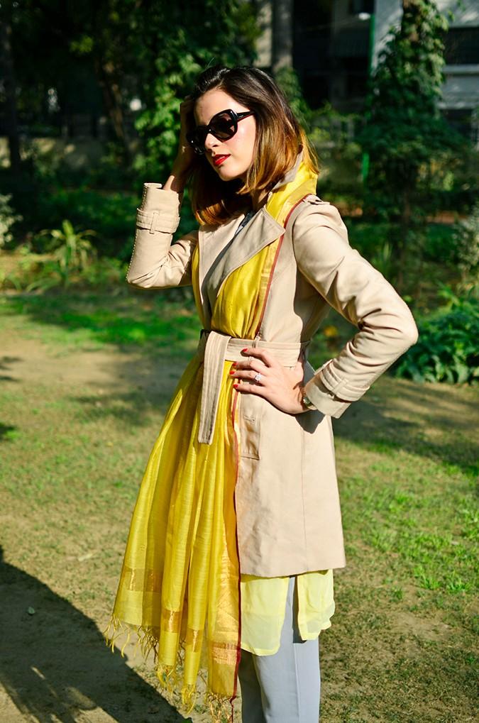 Indo-Western Style | Kokum | Akanksha Redhu | side half belted one hand up