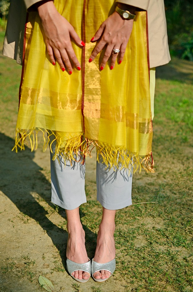 Indo-Western Style | Kokum | Akanksha Redhu | nails on dupatta half front bottom