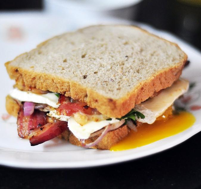 Bacon & Brie Egg Sandwich | Akanksha Redhu | final sandwich