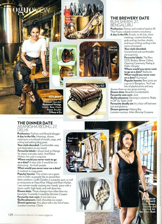 Vogue India   Feb 2015   Akanksha Redhu   page feature