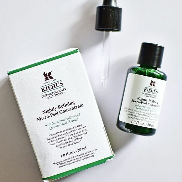 New night serum  kiehlsindia Nightly Refining MicroPeel Concentrate Onehellip