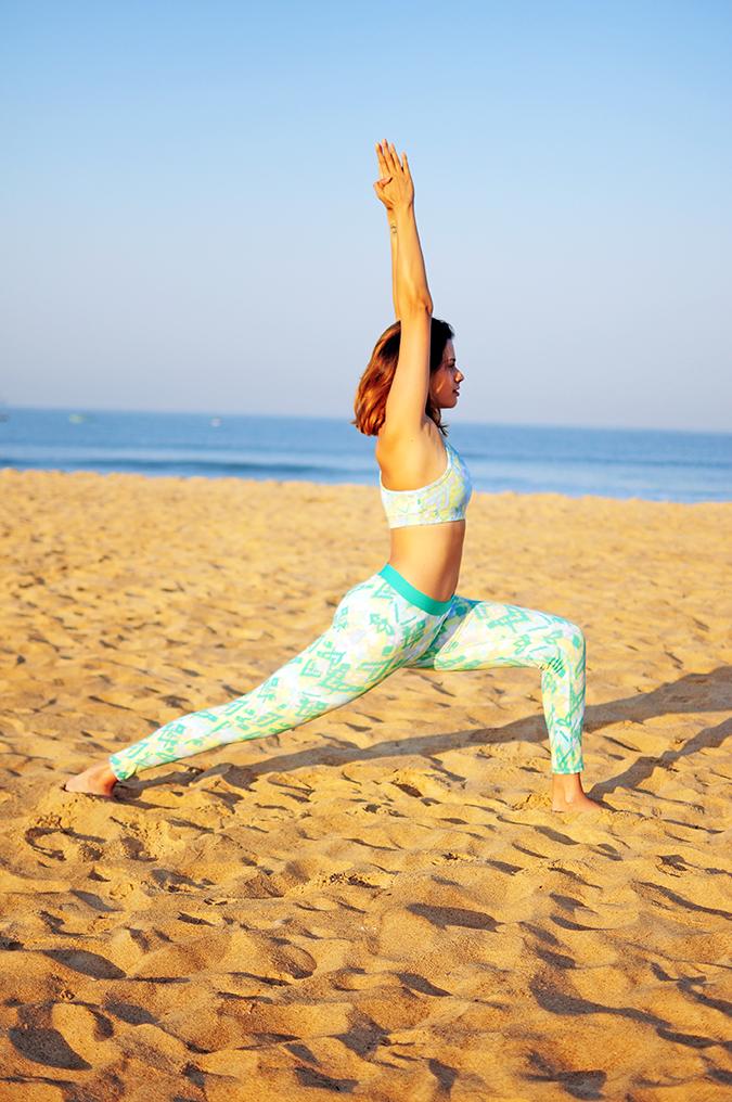 Yoga | Virabhadrasana 1 - Warrior 1 Pose | Akanksha Redhu | straight