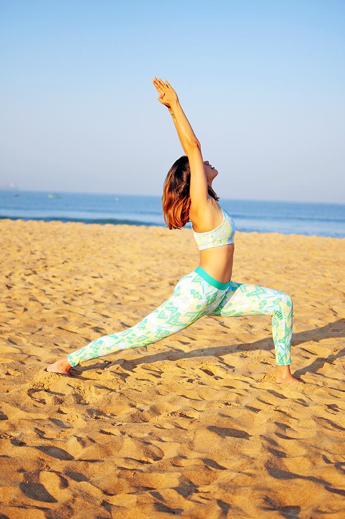 Yoga | Virabhadrasana 1 - Warrior 1 Pose | Akanksha Redhu | looking up