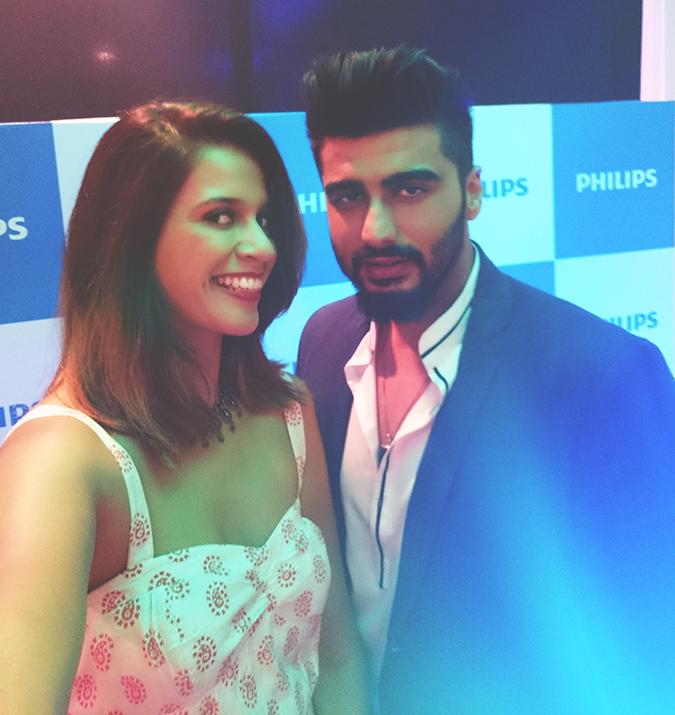 Philips Bodygroomers Launch with Arjun Kapoor | Akanksha Redhu | in selfie