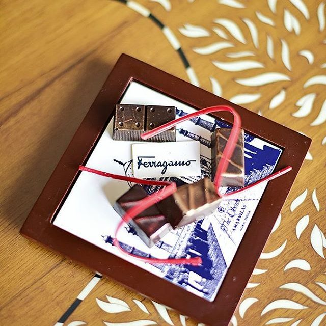 Little treats by ferragamo when we visited Agra with themhellip