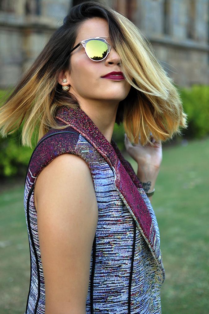 #AIFWSS16 | Dior | Akanksha Redhu | front half hair flip