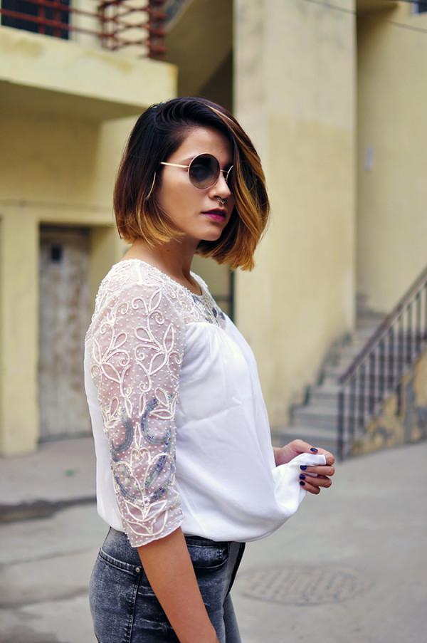 Ether | Akanksha Redhu | Fashion Blogger | half side cover