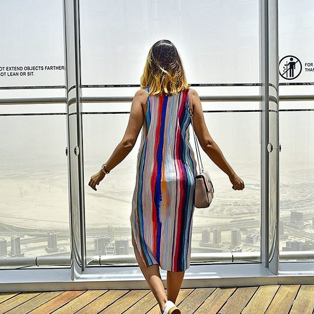 Looking over all of Dubai from the 148th floor atthetopburjkhalifahellip