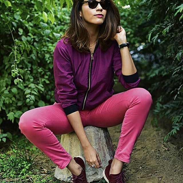 Plum amp Pink for the weekend  on httpakanksharedhucom wearinghellip