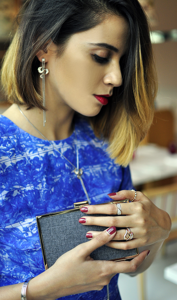 Melorra Jewelry | Akanksha Redhu | rings on clutch long