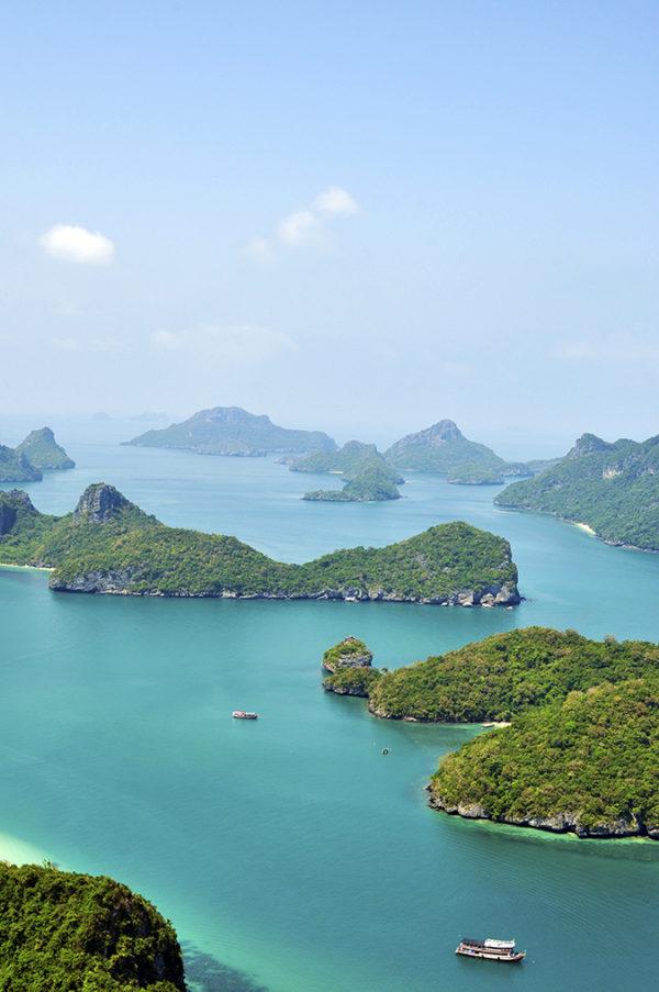 Ang Thong National Marine Park | Akanksha Redhu | long islands from view