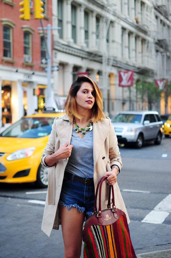 Soho | NYC | Akanksha Redhu | half front crossing yellow cab