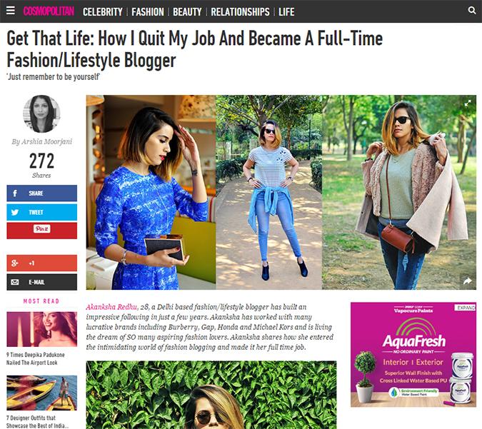 Cosmopolitan India | Akanksha Redhu | article start