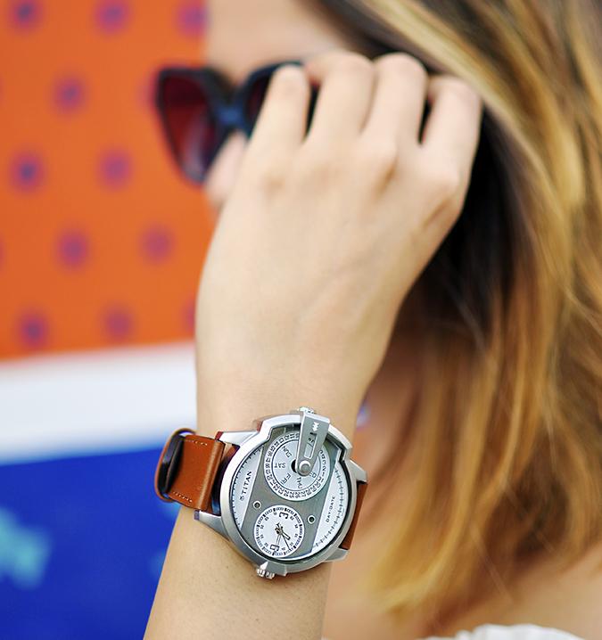 Titan | Akanksha Redhu | watch focus hand on sunglasses