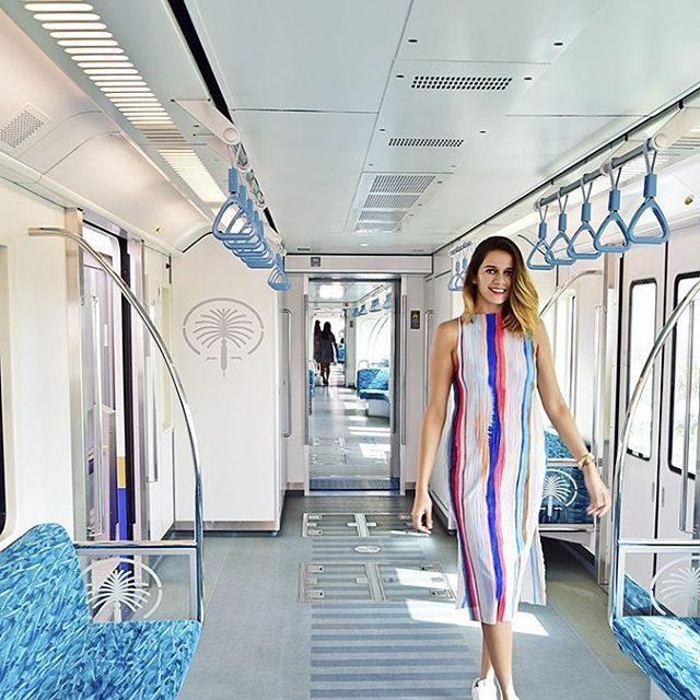 In the Dubai Monorail exploring Dubai with arabianadventures amp emirateshellip