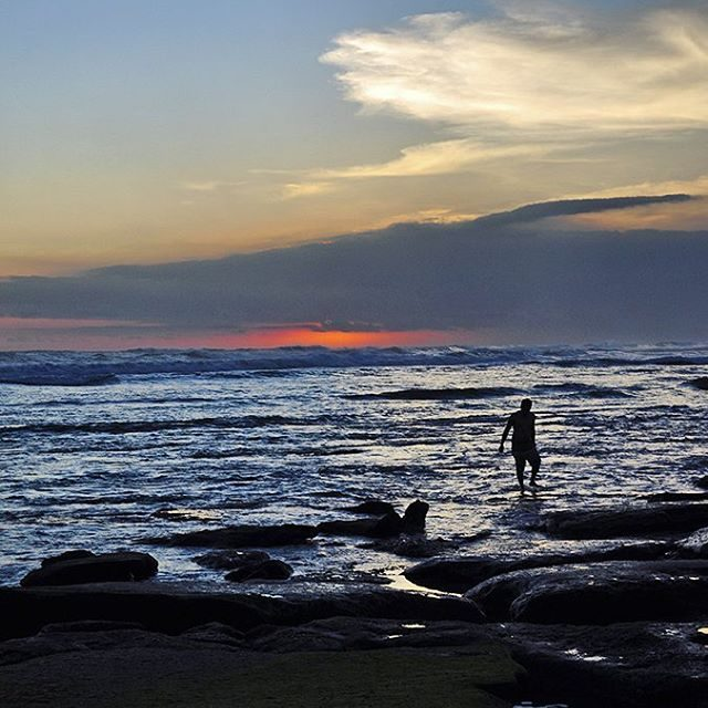 Man amp a sunset At Kedungu Beach Bali All abouthellip