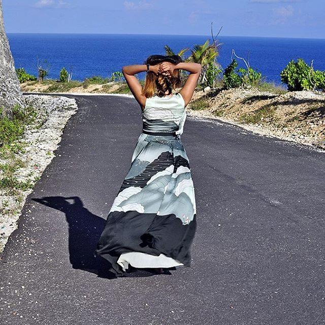 At Pantai Melasti Bali wearing this gorgeous ampmfashion dress Morehellip