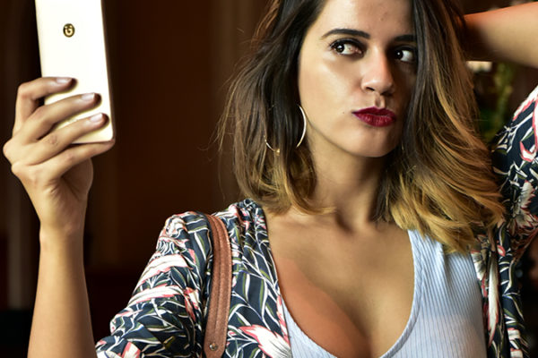 Gionee F103 Pro | Akanksha Redhu | pout face selfie