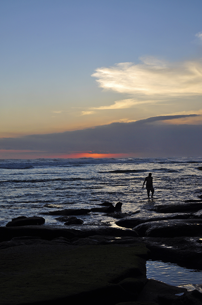 Kedungu Beach | Bali | Akanksha Redhu | man in water sunset
