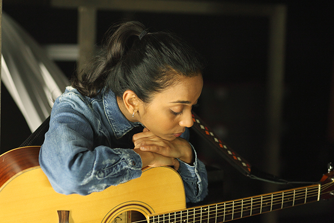 Shakespeare Lives | British Council | Akanksha Redhu | head rested on guitar