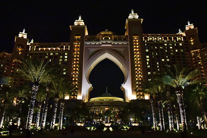 Emirates Holidays | Dubai | Akanksha Redhu | atlantis night view exterior