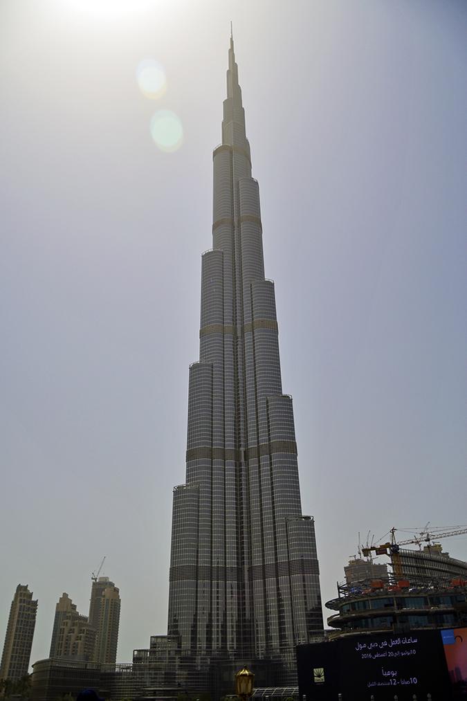 Emirates Holidays | Dubai | Akanksha Redhu | burj khalifa view from below