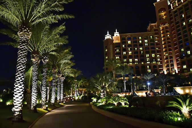 Atlantis The Palm | Dubai | Emirates Holidays | Akanksha Redhu | night view pathway