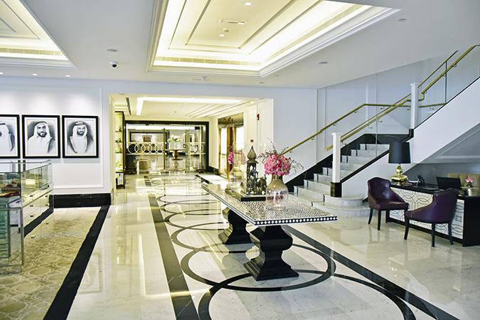 Taj Dubai | #EmiratesHolidays | Akanksha Redhu | lobby long table wide