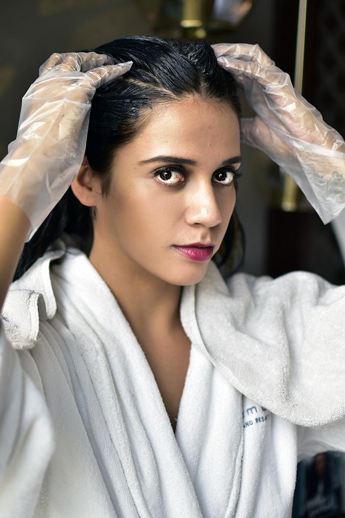 BBLUNT Salon Secret Hair Colour | Akanksha Redhu | completed application face