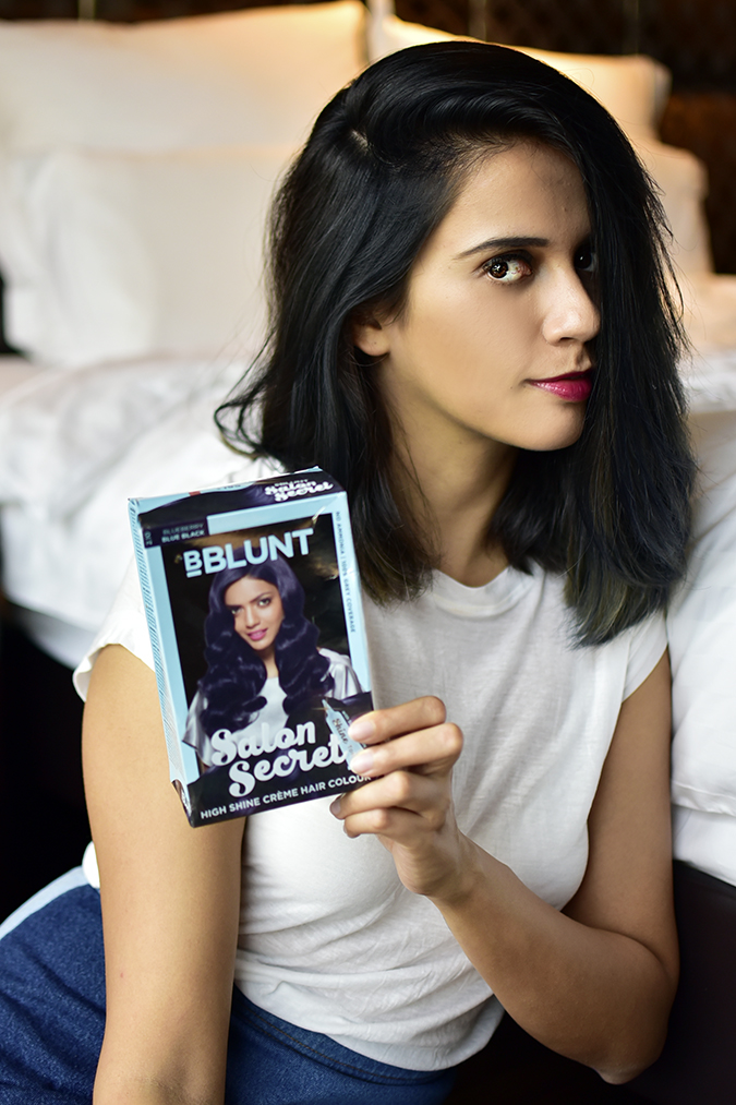 Bblunt one night stand temporary hair colour spray blue of for Bblunt salon secret hair colour review