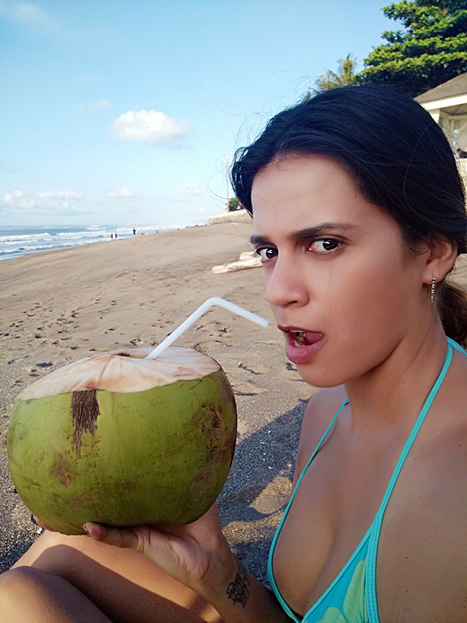 Berawa Beach | Bali | Akanksha Redhu | sipping on coco