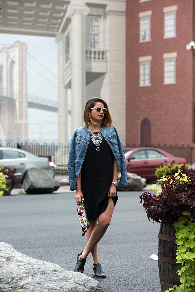 New York | Akanksha Redhu | full front jacket shoulders legs crossed