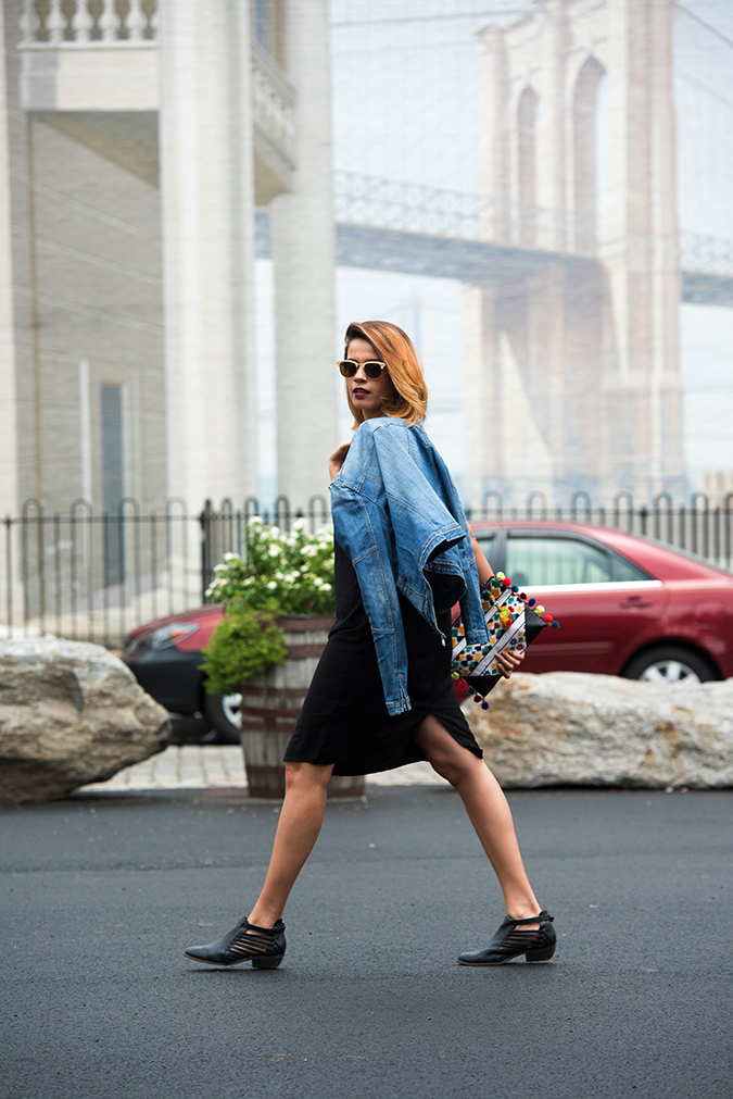 New York | Akanksha Redhu | walk jacket on shoulder