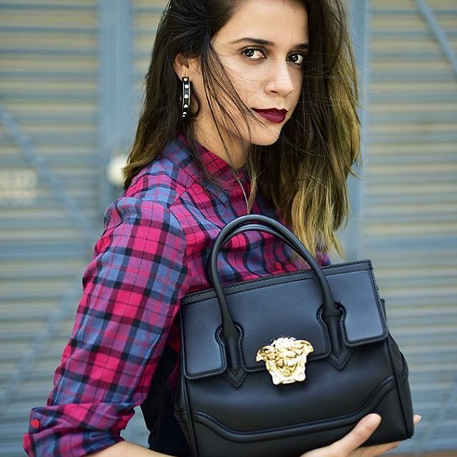 Plaid  with sbuys and this gorg versaceofficial bag onhellip