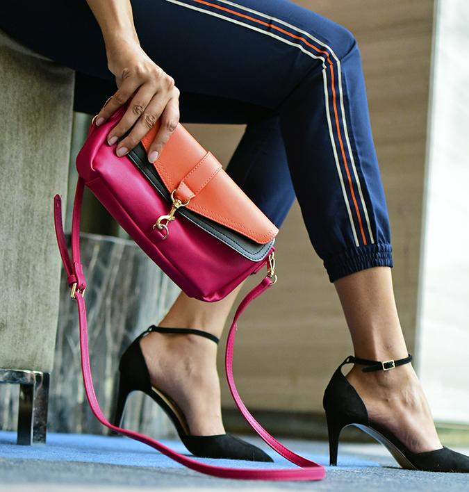 Benetton India | Akanksha Redhu | sofa heels bag