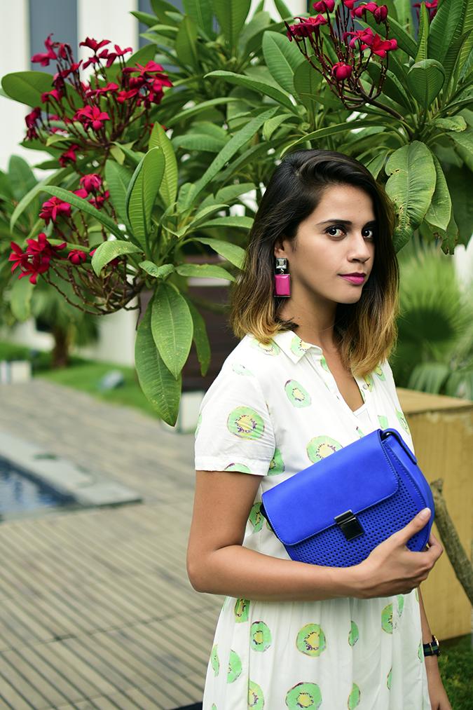 Benetton | Akanksha Redhu | half front flowers behind