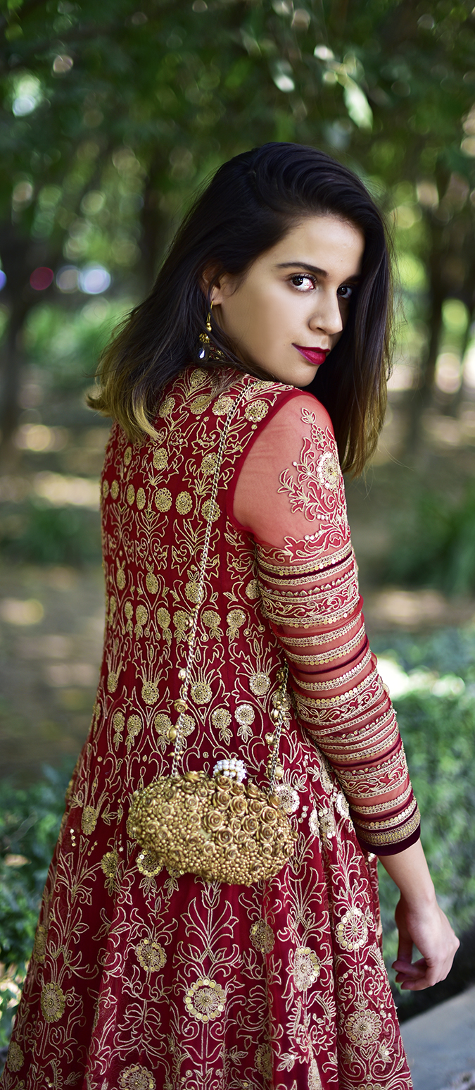 Tarun Tahiliani | Akanksha Redhu | half back looking front