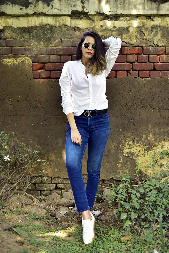 Calvin Klein | Akanksha Redhu | full front leg front arm up