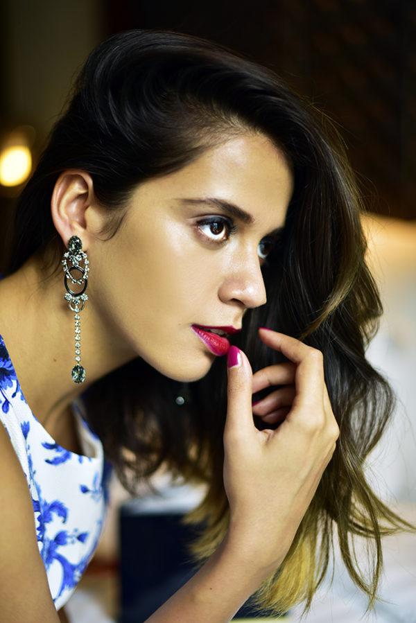 #BornFromColor   Estée Lauder   Akanksha Redhu   face side nail on lip