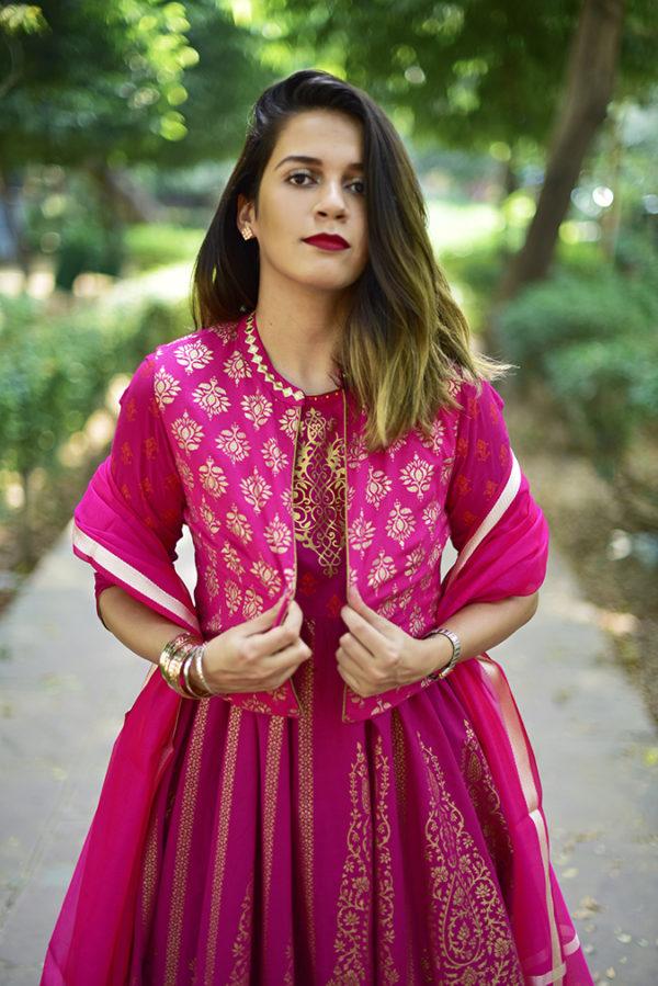 Max India Festive Collection | Akanksha Redhu | half front path pulling jacket