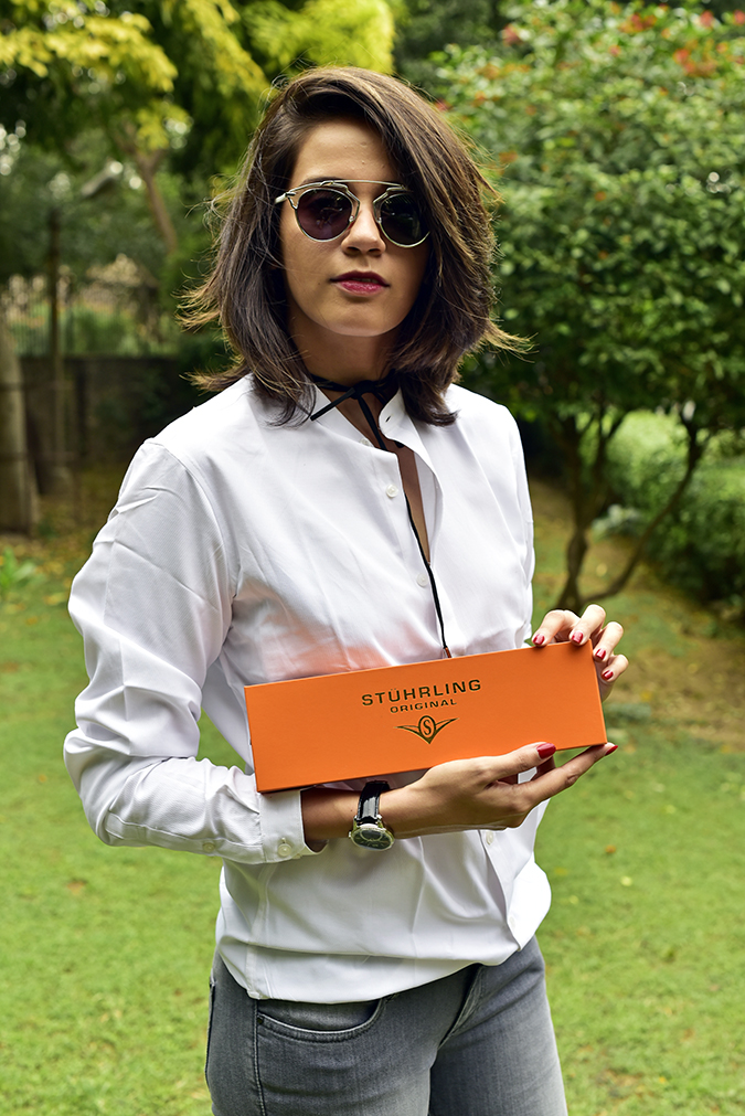 Amazon International Exclusive Watches | Akanksha Redhu |  half front holding box