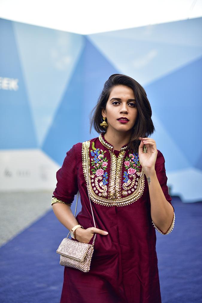 #AIFWSS17 | Akanksha Redhu | half front face front