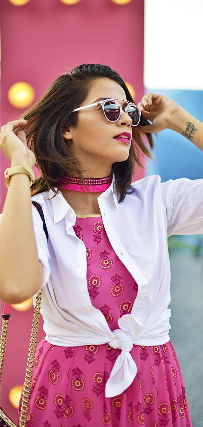 #AIFWSS17 | Akanksha Redhu | half front flying hair long