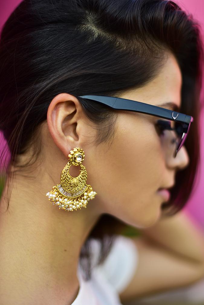 #AIFWSS17   Akanksha Redhu   earrings hidesign branding